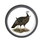 Turkey: Eastern Wild Hen Wall Clock