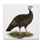 Turkey: Eastern Wild Hen Tile Coaster