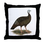 Turkey: Eastern Wild Hen Throw Pillow
