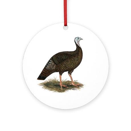 Turkey: Eastern Wild Hen Ornament (Round)