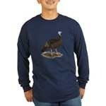 Turkey: Eastern Wild Hen Long Sleeve Dark T-Shirt