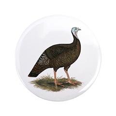 """Turkey: Eastern Wild Hen 3.5"""" Button"""