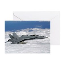 Navy F/A-18C Hornet Greeting Cards (Pk of 10)