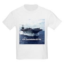 USS Constellation (CV 64) Kids T-Shirt