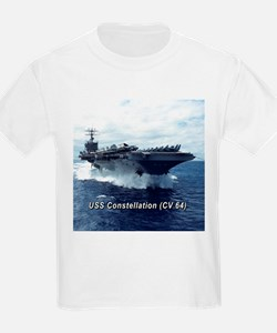 USS Constellation (CV 64) Kids T-Shirt