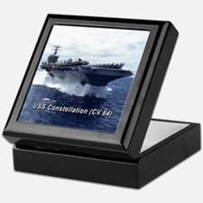 USS Constellation (CV 64) Keepsake Box