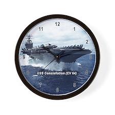 USS Constellation (CV 64) Wall Clock