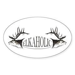 Elkoholic Sticker (Oval)
