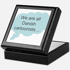 we are all Danish cartoonists Keepsake Box