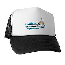 Ocracoke Island - Surf Design Trucker Hat