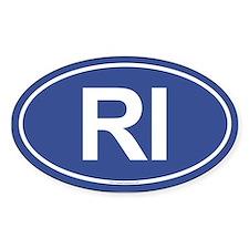 RI Oval Bumper Stickers