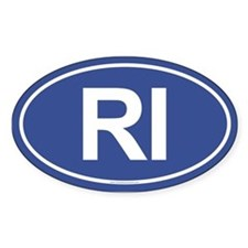 RI Oval Decal