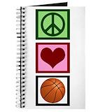 Basketball girls Journals & Spiral Notebooks