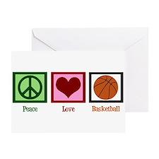 Peace Love Basketball Greeting Card