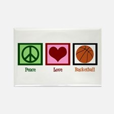 Peace Love Basketball Rectangle Magnet