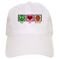 Peace Love Basketball Baseball Cap