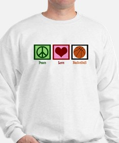 Peace Love Basketball Sweatshirt