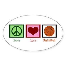 Peace Love Basketball Decal