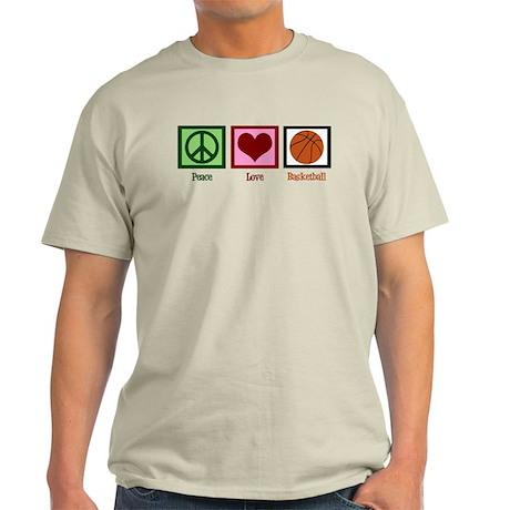 Peace Love Basketball Light T-Shirt