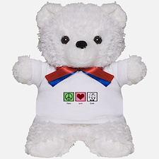 Peace Love Cows Teddy Bear