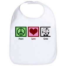 Peace Love Cows Bib