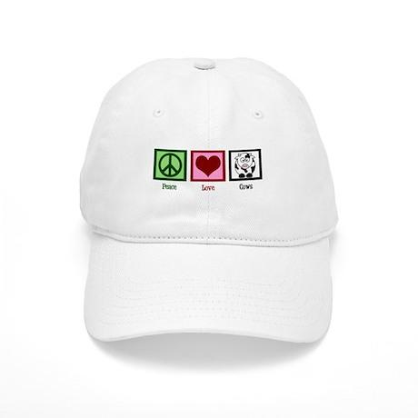 Peace Love Cows Cap