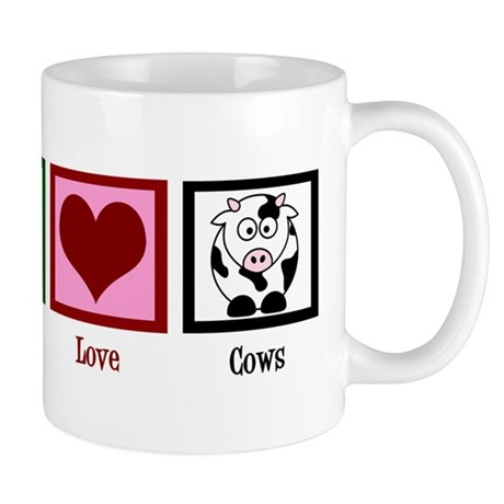 Peace Love Cows Mug