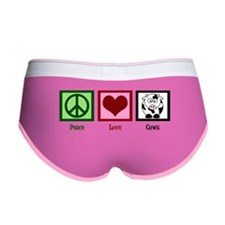 Peace Love Cows Women's Boy Brief