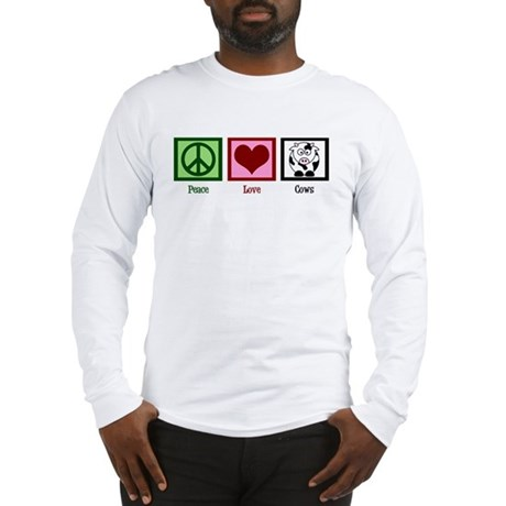 Peace Love Cows Long Sleeve T-Shirt
