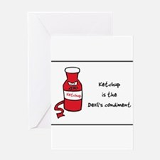 Unique Ketchup Greeting Card