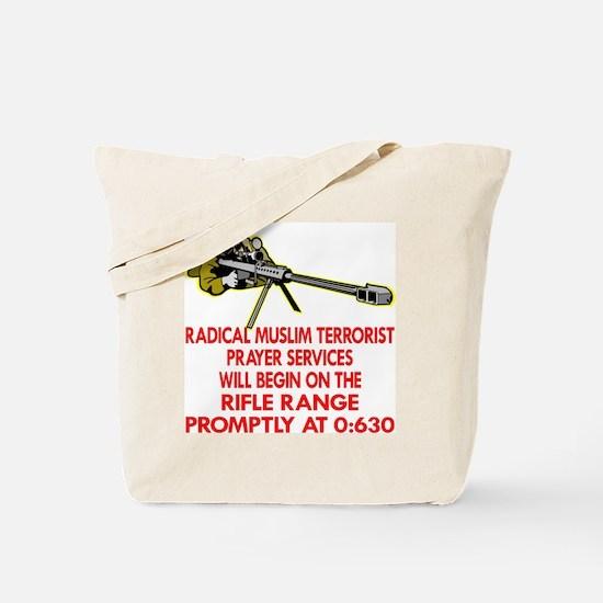 Terrorist Prayer Services Tote Bag