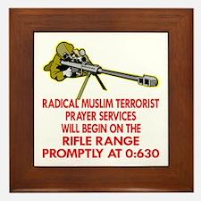 Terrorist Prayer Services Framed Tile