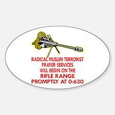 Terrorist Prayer Services Sticker (Oval)