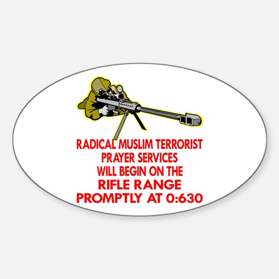 Terrorist Prayer Services Sticker (Oval)