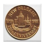 New Orleans 250th Medallion Tile Coaster