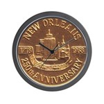 New Orleans 250th Medallion Wall Clock