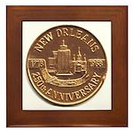 New Orleans 250th Medallion Framed Tile