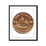 New Orleans 250th Medallion Framed Panel Print