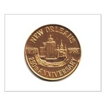 New Orleans 250th Medallion Small Poster