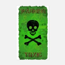 Funny Toxic Waste Sticker (Rectangle)