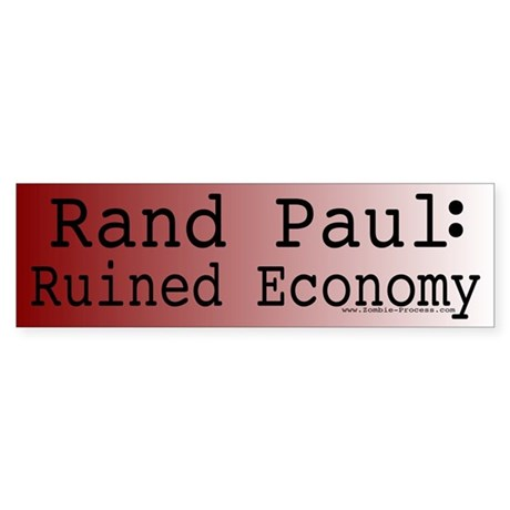 Rand Paul: Ruined Economy Sticker (Bumper)