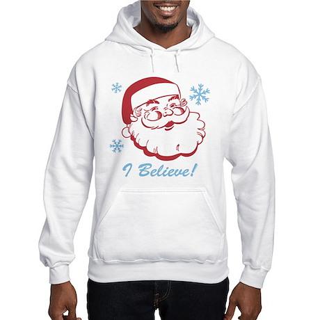 Retro Santa Believe Hooded Sweatshirt