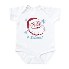 Retro Santa Believe Infant Bodysuit