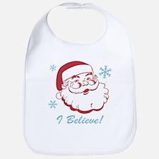 Retro Santa Believe Bib