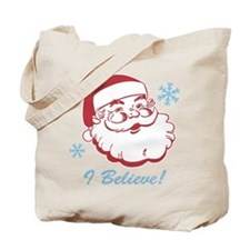 Retro Santa Believe Tote Bag