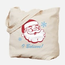 Retro Santa Believe Tote Bag