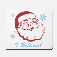 Retro Santa Believe Mousepad