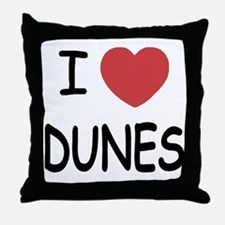 I heart dunes Throw Pillow