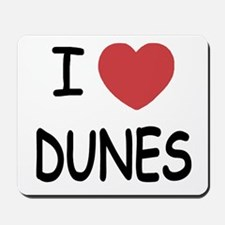 I heart dunes Mousepad