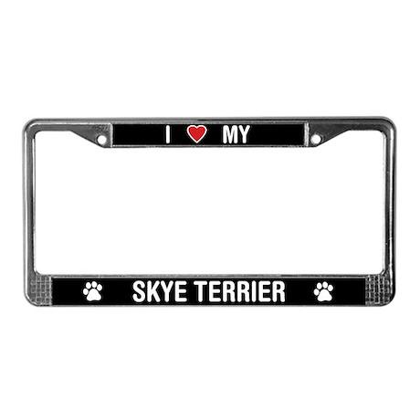 I Love My Skye Terrier License Plate Frame
